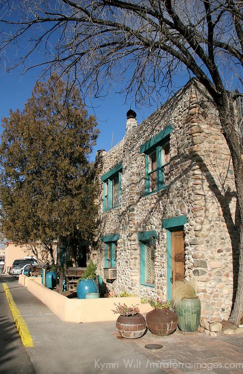 North America, USA, New Mexico, Santa Fe. Inn of Five Graces Exterior