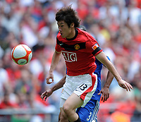 Fotball<br /> England<br /> Foto: Fotosports/Digitalsport<br /> NORWAY ONLY<br /> <br /> Ji Sung Park<br /> Manchester United 2009/10<br /> Ashley Cole Chelsea<br /> Chelsea V Manchester United 09/08/09<br /> Chelsea Win on Penalties (4-1) During Penalty Shootout<br /> The FA Community Shield 2009 Wembley Stadium