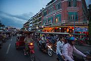 Promenade in Phnom Penh.
