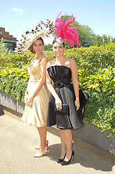 Left to right, ISABELL KRISTENSEN and her daughter VALENTINA KRISTENSEN at the second day of the 2010 Royal Ascot Racing festival at Ascot Racecourse, Berkshire on 16th June 2010.
