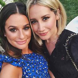 """Ashley Tisdale releases a photo on Twitter with the following caption: """"""""Celebrated my girl @LeaMichele and Z on their engagement. I couldn't be happier for this girl, she deserves the best because she is the best. I'm so lucky to have you in my life 💕"""""""". Photo Credit: Twitter *** No USA Distribution *** For Editorial Use Only *** Not to be Published in Books or Photo Books ***  Please note: Fees charged by the agency are for the agency's services only, and do not, nor are they intended to, convey to the user any ownership of Copyright or License in the material. The agency does not claim any ownership including but not limited to Copyright or License in the attached material. By publishing this material you expressly agree to indemnify and to hold the agency and its directors, shareholders and employees harmless from any loss, claims, damages, demands, expenses (including legal fees), or any causes of action or allegation against the agency arising out of or connected in any way with publication of the material."""