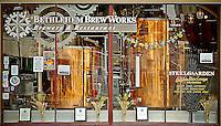 Storefront of Brew Works downtown Bethlehem Steel Bethlehem Pennsylvania Lehigh Valley
