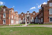 Christchurch Mansion large Tudor brick house built 1550, Christchurch Park, Ipswich, Suffolk, England, UK