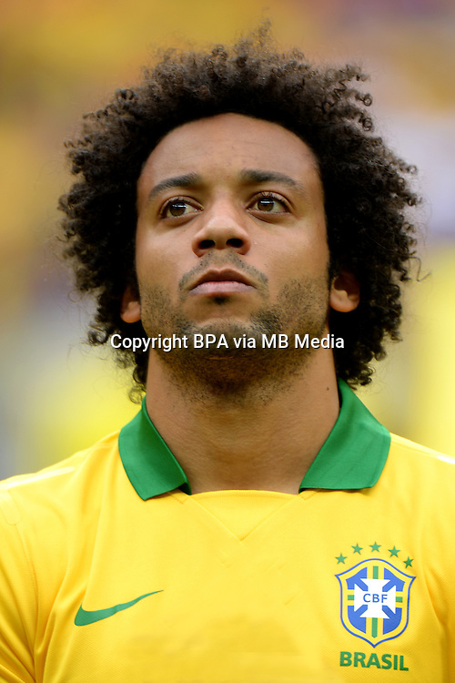 Fifa Brazil 2013 Confederation Cup / Group A Match /<br /> Brazil vs Japan 3-0  ( National / Mane Garrincha Stadium - Brasilia , Brazil )<br /> MARCELO of Brazil , during the match between Brazil and Japan
