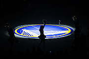 The Golden State Warriors Dance Team performs during pregame activities against the Utah Jazz at Oracle Arena in Oakland, Calif., on December 20, 2016. (Stan Olszewski/Special to S.F. Examiner)