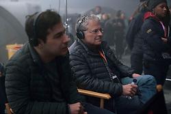 Jon Kasdan and Lawrence Kasdan on the set of SOLO: A STAR WARS STORY.