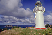 The old Lighthouse at the end of East Cape gravel road, the easternmost point of New Zealand mainland.