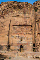The Silk Tomb in Nabatean Petra Jordan middle east