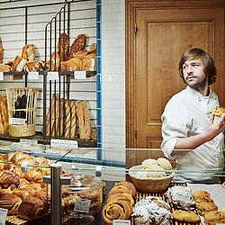 PARIS, FRANCE. FEBRUARY 7, 2013. Baker Gontran Cherrier in the first bakery he opened in Paris a few years ago. Photo: Antoine Doyen