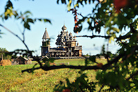 Early morning on the wild shores of Kizhi Island, in Russia's Lake Onega. The island is home to the world-famous Transfiguration Church, a timbered marvel with 22 onion domes built without a single nail. Over the years a number of other traditional wooden structures have been moved from Karelia to preserve them, and the island is now a UNESCO World Heritage site.