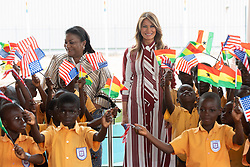 October 2, 2018 - Accra, Ghana, West Africa - First Lady Melania Trump and students at Kotoka International Airport in Accra, Ghana. (Credit Image: ? Andrea Hanks/White House via ZUMA Wire/ZUMAPRESS.com)