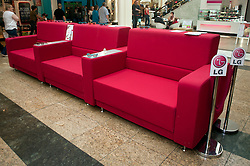 LGÕs LifeÕs Good Lounge interactive living room installation which was in meadowhall over the bank holiday ..22 April 2011.Images © Paul David Drabble