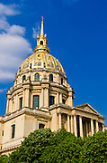 Gold-domed Chapel of Saint-Louis (burial site of Napoleon), Les Invalides, Paris, France