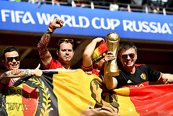 June 23, 2018 - Moscow, RUSSIA - Belgium's supporters pictured during the second game of Belgian national soccer team the Red Devils against Tunisia national team in the Spartak stadium, in Moscow, Russia, Saturday 23 June 2018. Belgium won its first group phase game. BELGA PHOTO DIRK WAEM (Credit Image: © Dirk Waem/Belga via ZUMA Press)