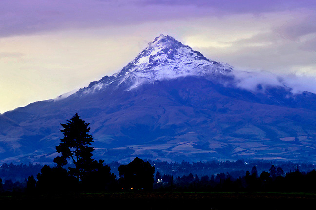 The snow capped Cotopaxi Volcano is Ecuador's most famous volcano, and one of the world's highest active volcanoes.