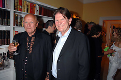 Left to right, Actor STEVEN BERKOFF and JOHN MADEJSKI at a party to celebrate the 21st birthday of one of their horses Leopold, held at 35 Sloane Gardens, London W1 on 10th September 2007.<br /><br />NON EXCLUSIVE - WORLD RIGHTS