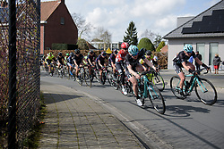 Drops Cycling lead the chase of the early break at Dwars door Vlaanderen 2017. A 114 km road race on March 22nd 2017, from Tielt to Waregem, Belgium. (Photo by Sean Robinson/Velofocus)