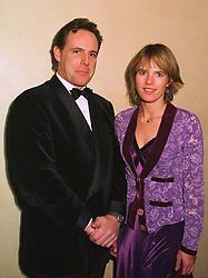 MR & MRS JAMES LINDSAY at a dinner in London on 1st December 1998.MMN 10