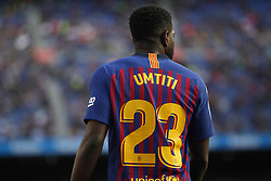 May 12, 2019 - Barcelona, Spain - Samuel Umtiti during the match between FC Barcelona angd Getafe, corresponding to the round 37 of the Liga Santander, played at the Camp Nou Stadium, on 12th May 2019, in Barcelona, Spain. (Credit Image: © Joan Valls/NurPhoto via ZUMA Press)