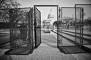 Secuirty gates at the entracne to the Capitol Building set up  for the Inauguration of Donald Trump as 45th President in Washgington D.C.