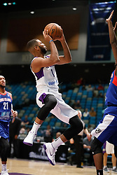 November 19, 2017 - Reno, Nevada, U.S - Reno Bighorns Guard AARON HARRISON (1) shoots during the NBA G-League Basketball game between the Reno Bighorns and the Long Island Nets at the Reno Events Center in Reno, Nevada. (Credit Image: © Jeff Mulvihill via ZUMA Wire)