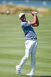 March 21, 2018 - Austin, TX, U.S. - AUSTIN, TX - MARCH 21: Tony Finau watches a shot during the First Round of the WGC-Dell Technologies Match Play on March 21, 2018 at Austin Country Club in Austin, TX. (Photo by Daniel Dunn/Icon Sportswire) (Credit Image: © Daniel Dunn/Icon SMI via ZUMA Press)