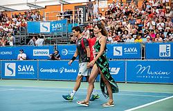 Aljaz Bedene of Slovenia prior to the Final match at Day 10 of ATP Challenger Zavarovalnica Sava Slovenia Open 2019, on August 18, 2019 in Sports centre, Portoroz/Portorose, Slovenia. Photo by Vid Ponikvar / Sportida