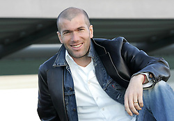 Mar 11, 2005; Paris, FRANCE; French soccer star ZINEDINE ZIDANE, currently playing for Real Madrid and captain of the French National soccer team.