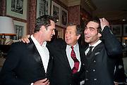 RUPERT EVERETT; MARIO TESTINO; Jon Kortajarena, Graydon Carter hosts a diner for Tom Ford to celebrate the London premiere of ' A Single Man' Harry's Bar. South Audley St. London. 1 February 2010