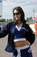 2008 British Touring Car Championship.Thruxton Circuit, Hampshire, United Kingdom.  17th-18th May 2008..Motorbase Performance Grid Girl.World Copyright: Peter Taylor/PSP