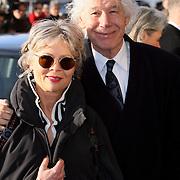 NLD/Amsterdam/20080201 - Verjaardagsfeest Koninging Beatrix en prinses Margriet, Paul van Vliet en partner Lidewij de Jongh