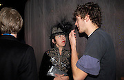 Isabella Blow and Isaac Ferry. party given by Daphne Guinness for Christian Louboutin  after the opening of his new shopt.  Baglione Hotel. 16 March 2004.  ONE TIME USE ONLY - DO NOT ARCHIVE  © Copyright Photograph by Dafydd Jones 66 Stockwell Park Rd. London SW9 0DA Tel 020 7733 0108 www.dafjones.com