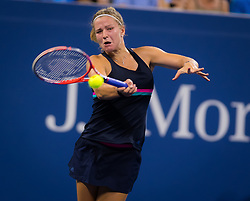 August 29, 2018 - Karolina Muchova of the Czech Republic in action during her second round match at the 2018 US Open Grand Slam tennis tournament. New York, USA. August 29th 2018. (Credit Image: © AFP7 via ZUMA Wire)