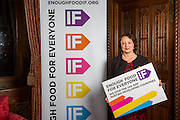 Catherine McKinnell MP supporting the Enough Food for Everyone?IF campaign. .MP's and Peers attended the parliamentary launch of the IF campaign in the State Rooms of Speakers House, Palace of Westminster. London, UK.