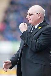 Livingston manager John McGlynn.<br /> Falkirk 1 v 1 Livingston, Scottish Championship game today at The Falkirk Stadium.<br /> © Michael Schofield.