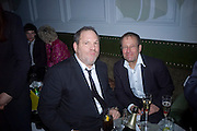 Harvey Weinstein and Richard Desmond, Weinstein Bafta after-party in association with Chopard. Bungalow 8. London. 10  February 2008.  *** Local Caption *** -DO NOT ARCHIVE-© Copyright Photograph by Dafydd Jones. 248 Clapham Rd. London SW9 0PZ. Tel 0207 820 0771. www.dafjones.com.