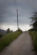 Lonely road with lamp post, Polyrinia, Crete