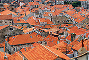 Detail of roofs, Dubrovnik old town, Croatia