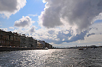 St. Petersburg, Russia, as seen from the Neva River on a brilliant afternoon.