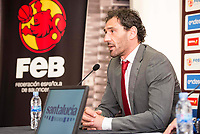 President of FEB, Jorge Garbajosa attends to the reading of the list of players preselected to Eurobasket 2017 in Madrid, June 28, 2017. Spain.<br /> (ALTERPHOTOS/BorjaB.Hojas)