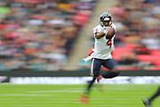 Houston Texan's quarterback, Deshaun Watson (4) runs with the ball during the NFL game between Houston Texans and Jacksonville Jaguars at Wembley Stadium in London, United Kingdom. 03 November 2019