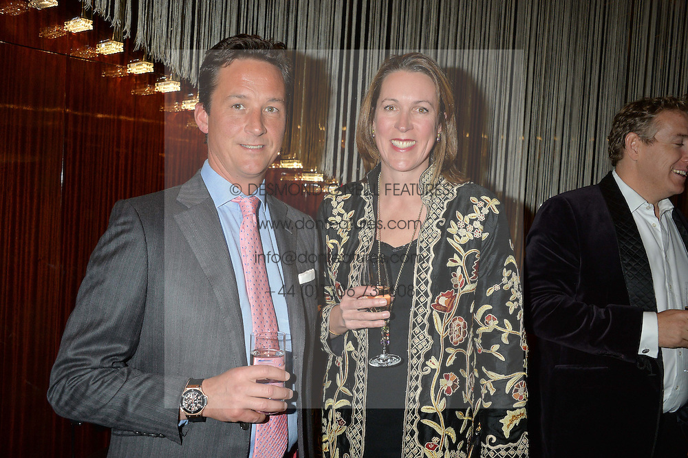 The DUKE & DUCHESS OF ARGYLL at a dinner hosted by AA Gill & Nicola Formby in support of the Borne charity held at Rivea at the Bulgari Hotel, Knightsbridge, London on 3rd February 2015.