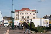 Tulln an der Donau, Austria Rathausplatz in front of town hall