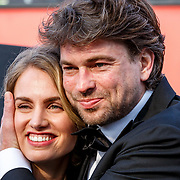 NLD/Hilversum/20180422 - Ontvangst gasten 27ste Coiffure Award Gala, Rik Brandsteder en partner Roosje Kuizinga