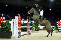 Roger Yves Bost on Record d'Oreal competes during competition Table A Against the Clock at the Longines Masters of Hong Kong on 19 February 2016 at the Asia World Expo in Hong Kong, China. Photo by Li Man Yuen / Power Sport Images