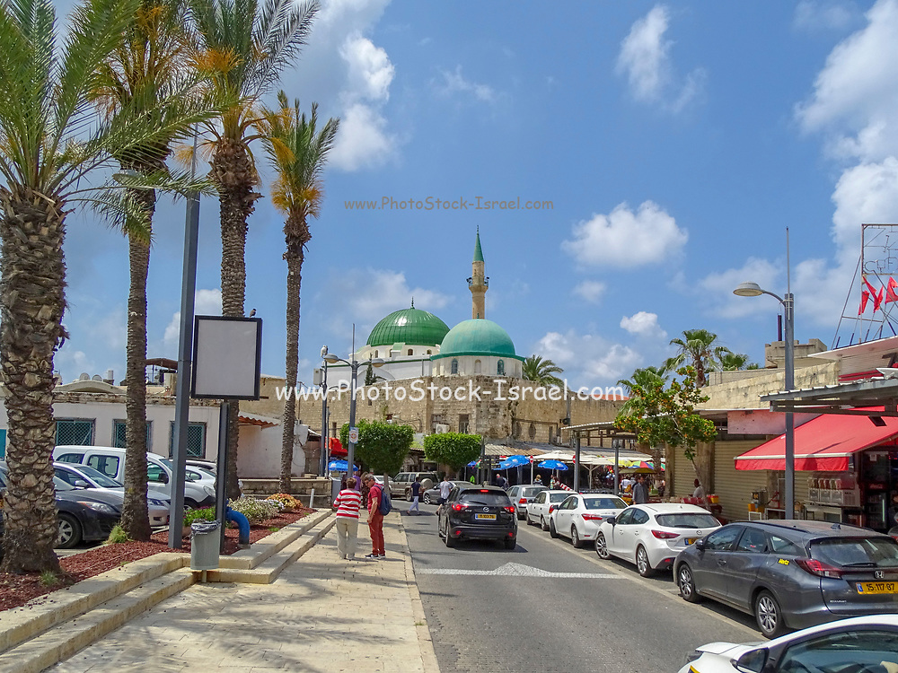 Israel, Acre, Ahmed Al Jazzar mosque in the old city of acre