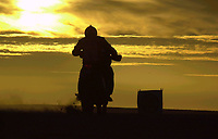 Motor - Motorsykkel. Paris-Dakar 2002. Featurebilde. Dette er ikke Pål Arne Ullevålseter.<br /><br />Foto: Francois Flamand, Digitalsport