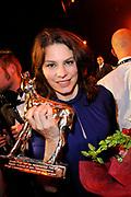 Het Gala van de Nederlandse Film met de uitreiking van de Gouden Kalveren tijdens het Nederlands Film Festival in Utrecht.<br /> <br /> Op de foto:  Rifka Lodeizen (Gouden Kalf beste actrice televisiedrama)