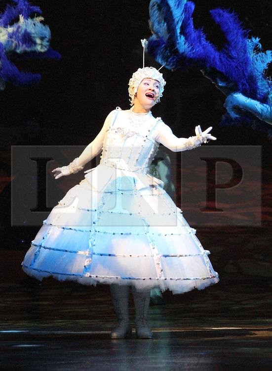 © London News PIctures. The White Singer; Mariana Sobol, Cirque Du Soleil Alegria opening night, O² Arena, London UK, 18 July 2013. Photo credit: Richard Goldschmidt/LNP
