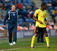 Photo: Steve Bond/Richard Lane Photography. Leicester City v Watford. Coca Cola Championship. 17/04/2010. Nigel Pearson (L) gives instructions